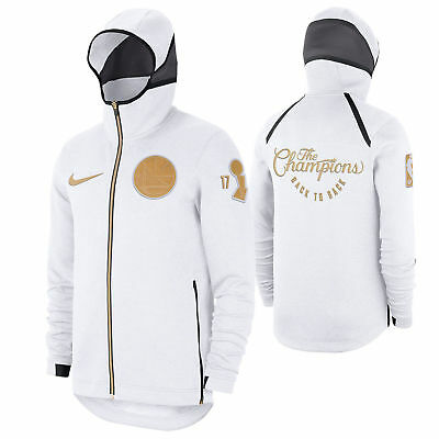 2018 Nike Golden State Warriors Trophy Ring Banner Therma Flex Showtime  Hoodie 2deaf10a09