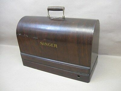 Vtg Singer 3/4 Size Sewing Machine Bentwood Case Only w/ Key for 28 128 (not 99)