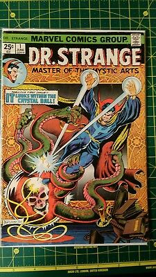 Doctor Strange #1 (Jun 1974, Marvel) Low Grade Reader Cover Attached MVS clipped