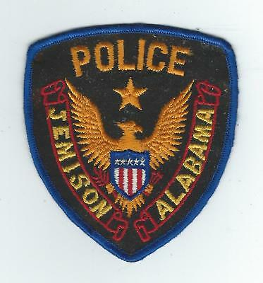 VINTAGE JEMISON, ALABAMA POLICE (CHEESE CLOTH BACK) patch