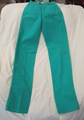"""Vintage Ladies """"Jewell's Classic Bottoms"""" Size 1-2, Green, High Rise, Jeans"""