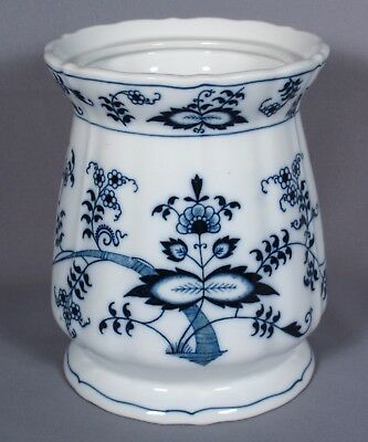 """Blue Danube Blue Onion Candy Jar Canister Without Lid, 6 ¾"""" Tall, Ribbon Mark"""