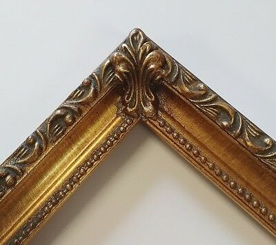 Picture Frame 11x14 Vintage Antique Style Baroque Bronze Gold Ornate GLASS 8022