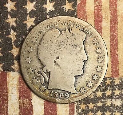 1899-S Barber Silver Half Dollar Collector Coin For Your Set Or Collection .
