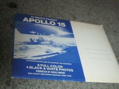 1971 APOLLO 15 PHOTO PACKET. 12 photos in original mailing envelope