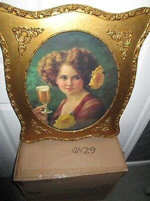 Rare Unique Antique Beautiful Brothel Women & Glass Beer,print Framed Germany