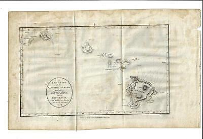 1784 A New Chart Of The Sandwich Islands Including Owyhee Hawaii