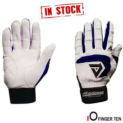 Baseball Batting Gloves Pair All Cabretta Leather Gloves Gym Sports Red Blue UK