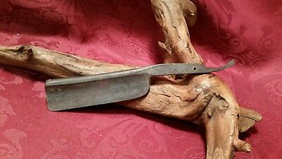 Antique/Vintage Unbranded Unsharpened Really Old Heavy Duty Straight Razor Blade