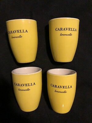 Lot Of 4 Caravella Limoncello Shot Glasses