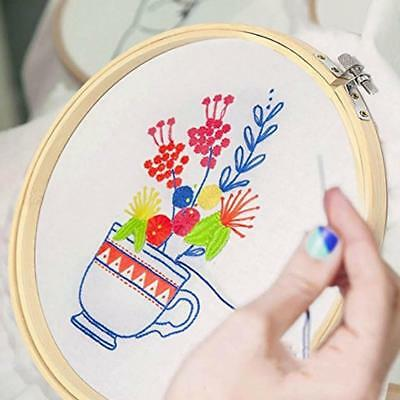 1x New Wooden Round Frame Hoop Ring Embroidery Wreath Cross Stitch Sewing