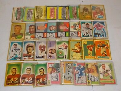 Vintage Football Lot of 50 Cards w/ 1955 Topps All American Luckman, F-EX A19
