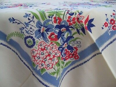 Vintage NWT Tablecloth - Charming! 1940's-1950's