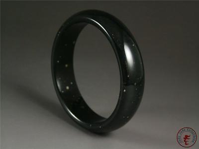 Fine Old Chinese Nephrite Black Jade Bracelet Bangle