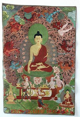Tibet Collectable Silk Hand Painted Buddhism Thangka    A210