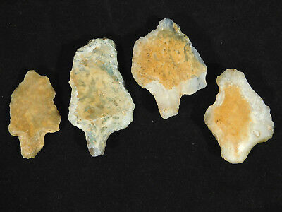 FOUR! Authentic Aterian Artifacts 55,000 to 12,000 Years Old From Algeria 67.1gr