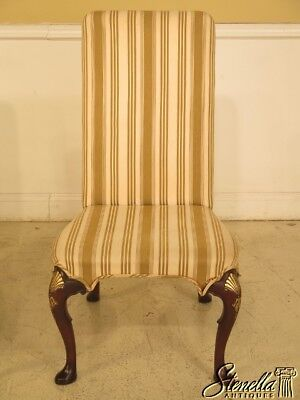 L45005: KITTINGER CW-67 Queen Anne Mahogany Upholstered Side Chair