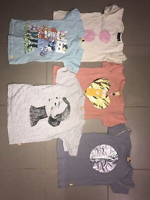 Rock Your Kid Baby girls Bull Lot tshirts Mixed Size 7 And 8 New And Used