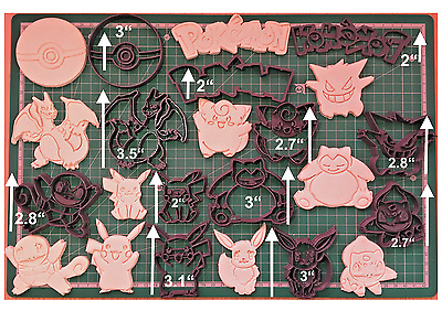 Pokemon Cookie Cutter Fondant Cake Decorating Mold gum paste pokemon go