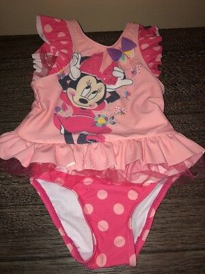 The Disney Store Two Piece Minnie Mouse Bathing Suit Size 2 Nwt