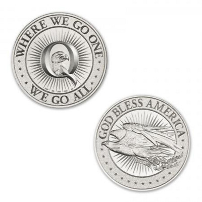 Limited Mintage Qanon - Where We Go One, We Go All 1 oz .999 Silver Round NEW