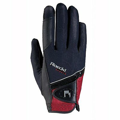 Roeckl Madrid Unisex Gloves Competition Glove - Black Red All Sizes