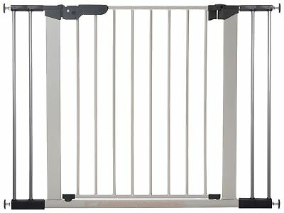 BabyDan Premier 2 Way Opening Triple Lock Wide Safety Gate - Silver.