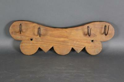 Rare 18Th C Pa Hanging Herb Rack Rare Bat-Wing Shape In Great Old Surface