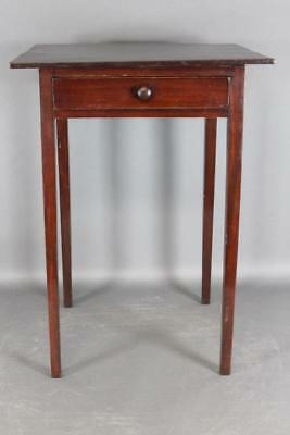 A Rare 19Th C Formal Philadelphia Hepplewhite One Drawer Stand In Best Mahogany