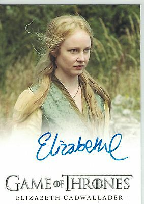 Game of Thrones Season 5 (2016): Elizabeth Cadwallader  autograph