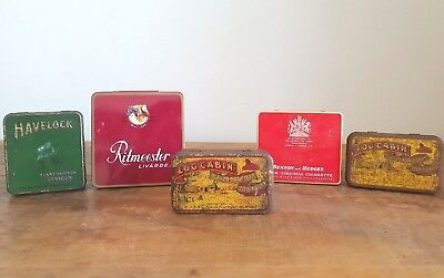 Tobacco Tins - Group Lot - Havelock, Log cabin, Benson and Hedges, Ritmeester