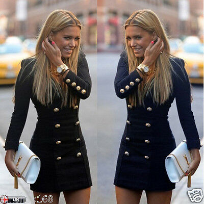Sexy Women Long Sleeve Bodycon Evening Party Cocktail Mini Dress Tops Bandage