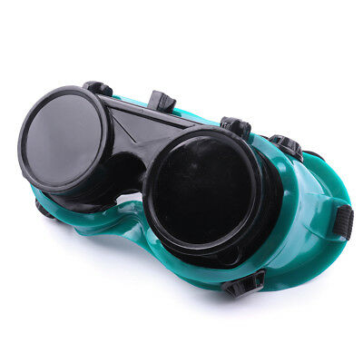 Round Lenses Welding Cutting Welders Safety Glasses Flip Up Dark Green Goggles