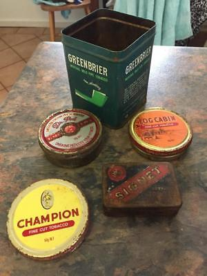 Old Tobacco Tin Collection