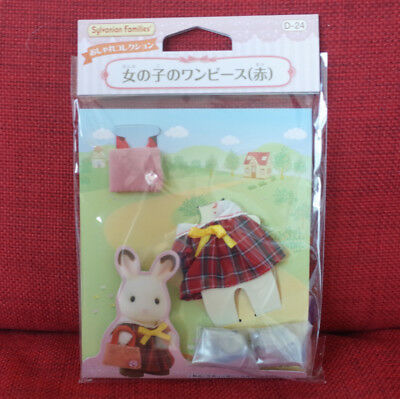 Sylvanian Families RED ONE-PIECE FOR GIRLS Epoch Calico Critters