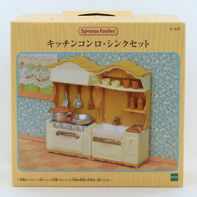 Sylvanian Families KITCHEN STOVE AND SINK SET Epoch Japan KA-420 Calico Critters