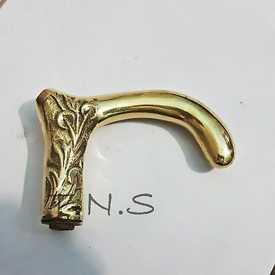 Solid Brass Round Head Handle Vintage Handle for walking Stick Cane Gift