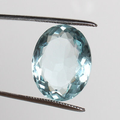 21.80 Ct. Natural Aquamarine Greenish Blue Color Oval Cut Certified Loose Gems