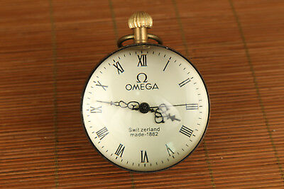 chinese old Copper clockwork spring Machinery big pocket watch