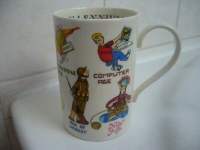 """Dunoon Fine China Mug """"Ages of Man"""" a design by Cherry Denman, unused & perfect"""