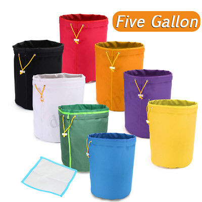 5 Gallon Filter Hash Bag Ice Bubble Herbal Plant Extractor +Pressing Mesh Screen