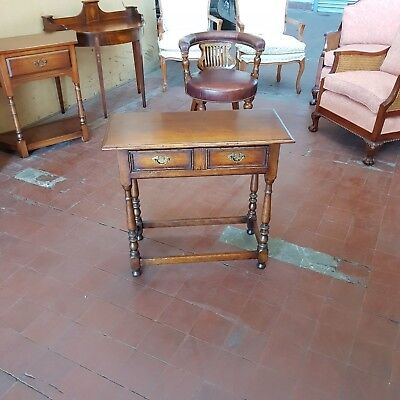 Antique/reproduction Solid Oak Console/hall Tablesideboard/server/drawers