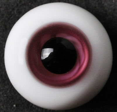 Nice 8mm Pink&Black Glass Round BJD Eyes fit for DOD DZ AOD Volks Barbie Doll