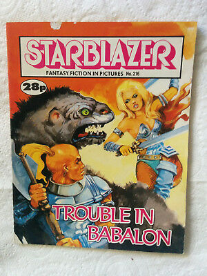 "Starblazer #216 ""TROUBLE IN BABALON"" published by DC Thomson"