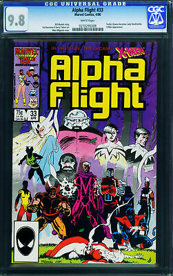 ALPHA FLIGHT #33 CGC 9.8-Lady Deathstrike first appearance-x-men 0272295008