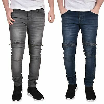 Mens Skinny Jeans Stretch Slim Fit Branded Denim Casual Trousers Pants All Waist