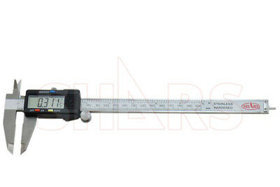 "SHARS 8""/200mm Electronic Digital Caliper Stainless Large LCD .0005"" New"