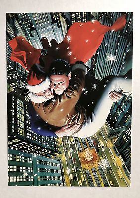 Rare DC Comics Superman 1996 Holiday Card - Alex Ross - Not Sold to Public