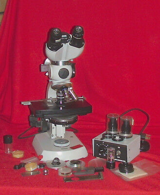 Zeiss Microscope complete and extras