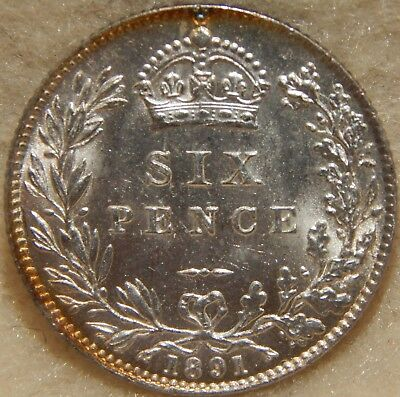 1891 - Great Britain - Sixpence - Au  ----  #461Z